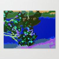 Sakura pixel Canvas Print