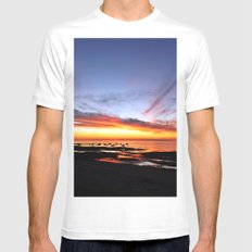 Spectacular Seaside Sunset Mens Fitted Tee White SMALL