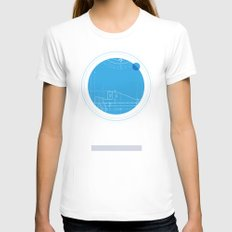 Neptune I Womens Fitted Tee White SMALL
