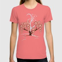 Magic Candy Tree - V3 Womens Fitted Tee Pomegranate SMALL