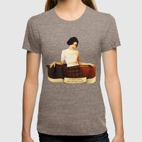 Audrey Horne Womens Fitted Tee Tri-Coffee SMALL
