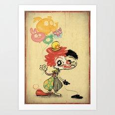 The Clown / Balloons Art Print