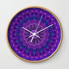 Harmony in Purple Wall Clock