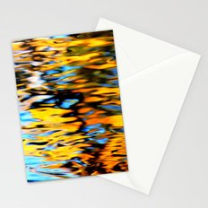 Liquidum Ignis. Fall Tree Reflections in a Pool of Water Stationery Cards