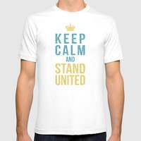 Keep Calm And Stand United Mens Fitted Tee White SMALL