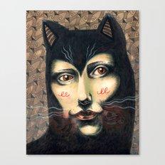 Cat Story Canvas Print