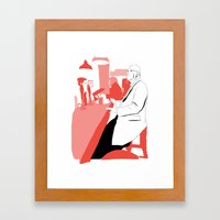 Having A BloodyPint Framed Art Print