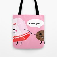 Milk and cookie love  Tote Bag