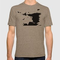 Solar Eclipse  Mens Fitted Tee Tri-Coffee SMALL