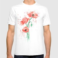 poppy Mens Fitted Tee White SMALL