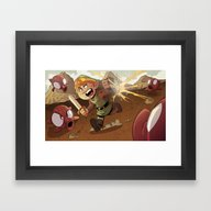 Framed Art Print featuring Link by Dave Bardin