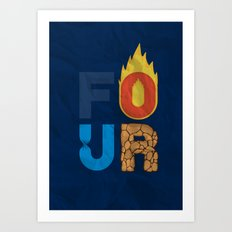 The Four Art Print