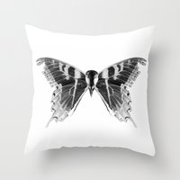 Wings And Skull #1 Throw Pillow