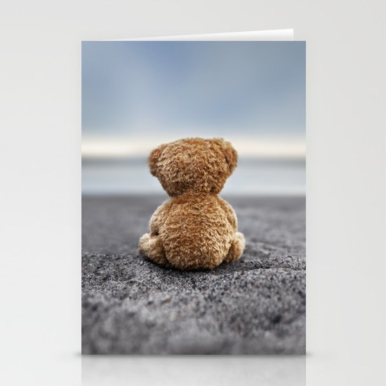 Teddy Blue Stationery Card