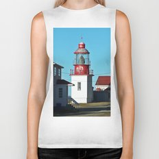 Cap-Chat Lighthouse in Spring Biker Tank