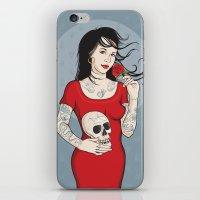 Señora Muerte iPhone & iPod Skin