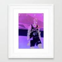 Seattle Reign Man Framed Art Print