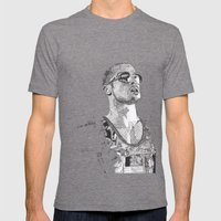 Tyler Durden Mens Fitted Tee Tri-Grey SMALL