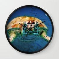 Bajan Turtle Wall Clock