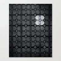 Pattern Eight Black and White Canvas Print