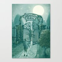 The Night Gardener - Grimloch Park Canvas Print