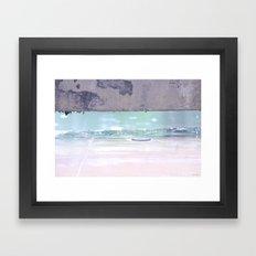 Under the Cement Bench Framed Art Print