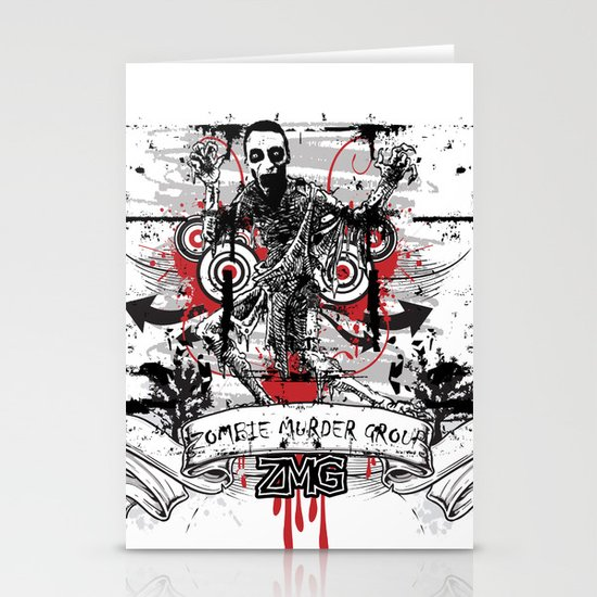 Zombie Stationery Card