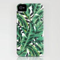 iPhone 4s & iPhone 4 Cases featuring Tropical Glam Banana Leaf Print by Nikki