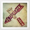 El Tecolote Cafe Sign Art Print