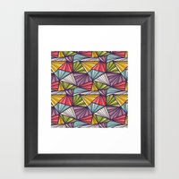 Geometric Doodles Framed Art Print
