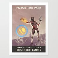 Mass Effect 3- Engineer … Art Print