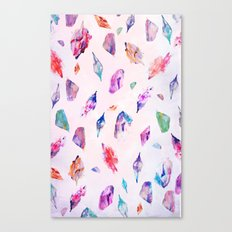 Watercolour Crystals  Canvas Print