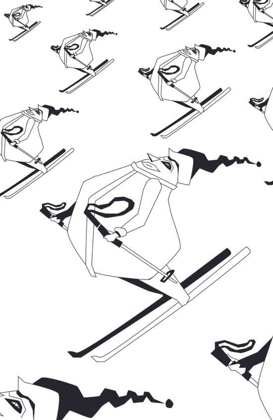 Skiers Art Print