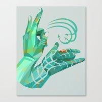 hand-shape aesthetic Canvas Print