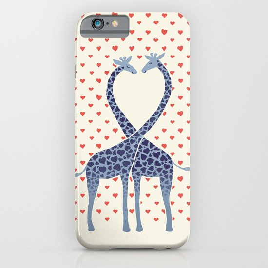 Giraffes in Love - a Valentine's Day illustration iPhone & iPod Case