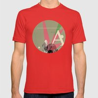 (Times) A Mens Fitted Tee Red SMALL