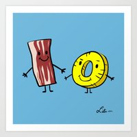Bacon Pineapple Art Print