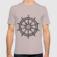 Ship's Helm - Captain's Wheel - Rudder Mens Fitted Tee Cinder SMALL