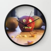 This halloween I want to be a pumpkin!!! Wall Clock