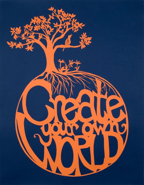 Create Your Own World Art Print