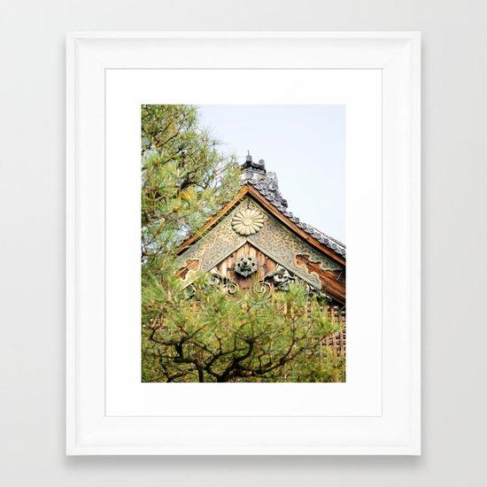NIJO CASTLE Framed Art Print