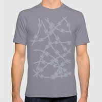 Trapped Grey Mens Fitted Tee Slate SMALL