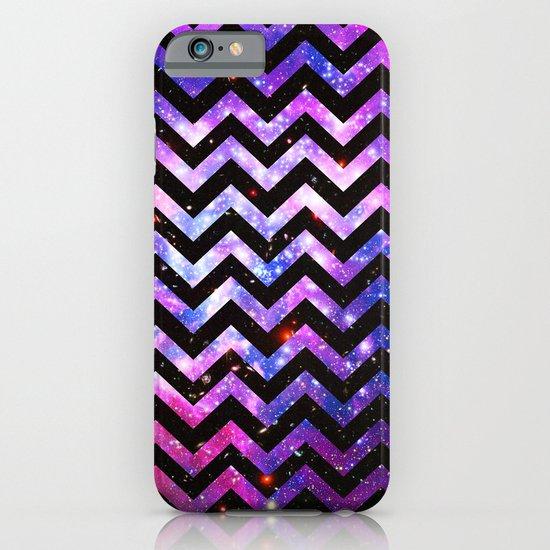 Girly Chevron Pattern Cute Pink Teal Nebula Galaxy iPhone & iPod Case