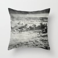 Somewhere Over The Clouds (IV Throw Pillow