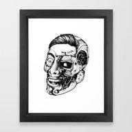 Framed Art Print featuring T800 Are Coming. The Gen… by Sinpiggyhead