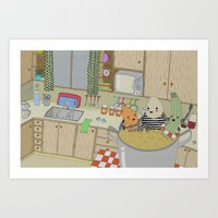 Vegetable Soup Art Print