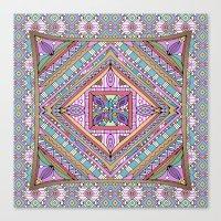 Sweet Funky Retro Mandal… Canvas Print