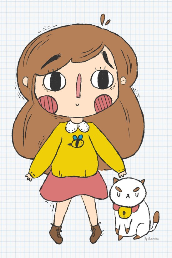 Bee and Puppycat Art Print