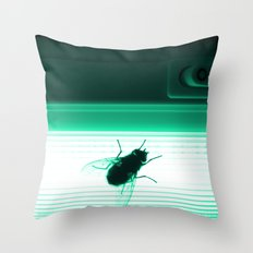 Neon Fly Throw Pillow