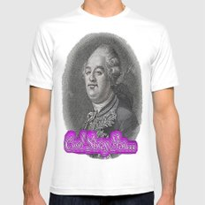 Cool Story King Louis XVI White SMALL Mens Fitted Tee